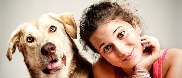 Dog with girl